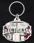 Electrician Key Ring - Red Enameled Load Center Keychain
